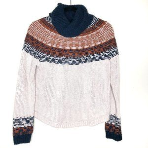 Madewell Sweaters - Madewell Brookdale Fair Isle Turtleneck Sweater S